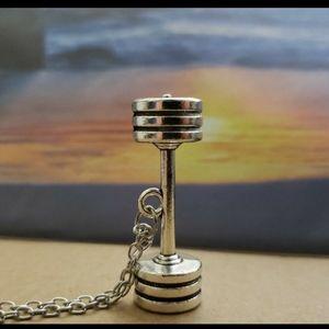 Other - Last 1 Discipline Large Dumbbell necklace